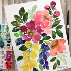 Likes, 38 Comments - Jeannie Dickson Watercolor Trees, Watercolor Cards, Watercolour Painting, Floral Watercolor, Painting & Drawing, Watercolor Artists, Watercolor Portraits, Watercolor Landscape, Watercolors