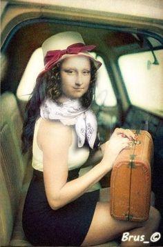 Mona Friends, Classical Art Memes, La Madone, Mona Lisa Parody, Mona Lisa Smile, Beautiful Fantasy Art, William Blake, Hippie Art, Famous Art
