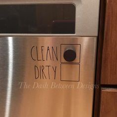 Kitchen Remodeling - Rae Dunn Inspired clean/dirty decal for your dishwater! Please note that the magnet is not included (any magnet will work). The decal measures approximately inches. Deep Cleaning Tips, Cleaning Hacks, Diy Hacks, Homemade Toilet Cleaner, Cleaning Painted Walls, Glass Cooktop, Up House, Toilet Cleaning, Simple Life Hacks