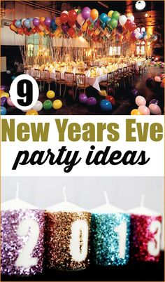 9 New Years Eve Party Ideas. Bring in the new year with these fabulous party tips and tricks. You guests will have a smashing time with these fun party games, food and decor.