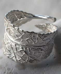 Look at this Martha Jackson Sterling Silver Leaf Furl Ring on #zulily today!