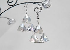 Triforce Crystal Earrings. Just a picture but seem easy enough to DIY.