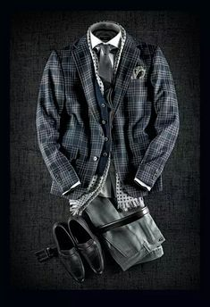 Curated Fall Looks [Original Content] Gentleman Mode, Gentleman Style, Mode Masculine, Traje Casual, Casual Outfits, Men Casual, Fashion Outfits, Mens Fall, Mens Fashion Suits