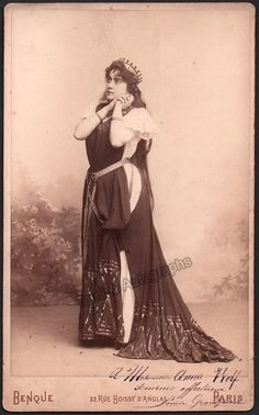 Grandjean, Louise - Large Signed Cabinet Photo in Role