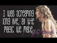 Long Live (Live) - Taylor Swift - Lyrics
