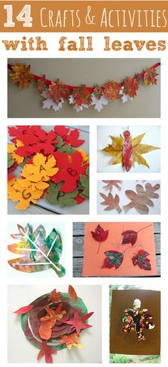 14 Crafts & Activities With Fall Leaves - No Time For Flash Cards