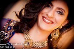 Bride's jewellery in Sindhi Wedding in New Brunswick Hyatt by PhotosMadeEz with Sajawat, SV Bridal Concepts, Sanjana Vaswani, Moghul Catering.