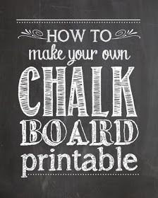 Best of Bloggers DIY Projects: How to Create Your Own Chalkboard Printables + FREE Chalkboard Background
