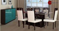 Picture of Lavani 6 Seater Dinning Set Dinning Set, Interiors Online, Teak Wood, Dining Chairs, Interior Design, Modern, Furniture, Home Decor, Nest Design