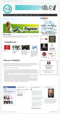 Mom Inc Movement Portfolio Web Design, Clarity, Marketing, Mom, Mothers