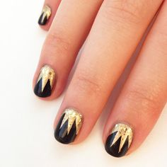 DIY Art Deco Nail Art Design for Great Gatsby Parties. Instructions here.