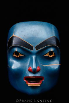 Labret mask carved by Haida artist Robert Davidson, Potlach Arts Collection, British Columbia, Canada