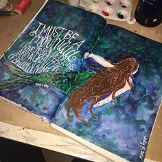 This page is done. Onto some cover #art for the woodland creature book .@thestromboshow @strombo #artjournal #sundayinthestudio #mermaid
