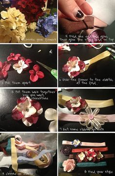 A super easy, quick tutorial to make your own flower headbands for newborns or as a photography prop