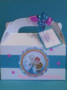 Frozen fever party favor boxes, goody boxes, treat boxes