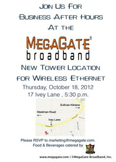 MegaGate is host to Business After Hours in October 2012 (Photo taken by Kyle Jones)