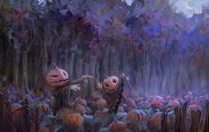 Haunted Pumpkin Patch: Marco Bucci | Illustrations | Pinterest ...