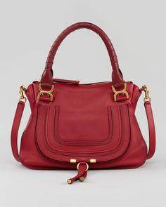 Chloe Marcie Medium Shoulder Bag, Red - Bergdorf Goodman