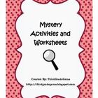 """Mystery Activities and Worksheets.  This is great for a mystery reading unit and helps you stage your own """"crime""""! $"""