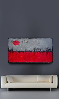 Textured impasto large canvas Painting modern by baronvisi on Etsy, £105.00