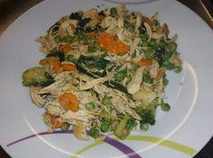 Salteado de legumes com peito de frango desfiado 😋
