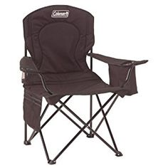 This extra-large chair has a padded seat and back, with comfortable, adjustable-height armrests. Coleman Oversized Quad Chair with Cooler Pouch Soft cooler pouch x x holds 2 - 4 cans and 1 Coleman Chiller (small). Coleman Camping Chairs, Folding Camping Chairs, Folding Chairs, Quad, Camping Furniture, Outdoor Furniture, Wood Furniture, Modern Furniture, Quality Furniture