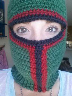 Crochet Boba Fett Ski Mask Adult by CrochetAFlower on Etsy