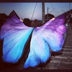 Another hand made wings #wings #isiswings #bellydance #silk #silkwings #pracowniador #Płock #handpainted #handmade #butterfly