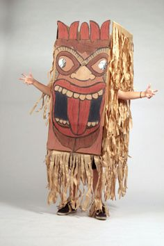Oh yeah, if we do Hawaiin party- Make one out of cardboard box-make daddy dance around in it, LOL. Or make one for each guest & have a dancing tiki contest-or maybe they could wrestle like Sumo.