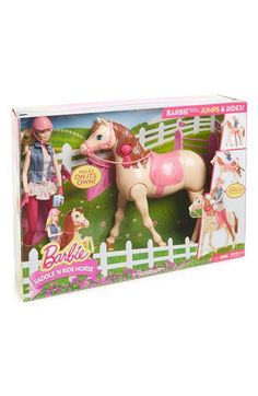 Mattel 'Barbie - Saddle 'N Ride Horse' Doll Set Mattel Barbie, Barbie And Ken, Barbie Dolls, Toys For Girls, Kids Toys, Pink Helmet, Barbie Horse, Lps Littlest Pet Shop, Pet Style