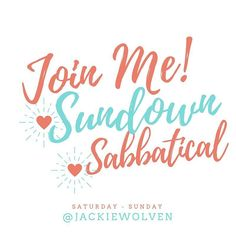 Jumping on here quickly to remind you to join me for the Sundown Sabbatical (Saturday sunset to Sunday sunset). We get off our phones Facebook Instagram Twitter and all social platforms to dive deeply into our own lives. I PROMISE it will all be there when you jump back on! Let's do this! Let's cut the ties for 24 hours and live our lives fully!  #sabbatical #handsfree #offline #mindfulness #practicewhatyoupreach  #photosinbetween #plannerlove #liveauthentic #calledtobecreative…