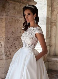 Bridal Wedding Dresses, Dream Wedding Dresses, Wedding Attire, Bridesmaid Dresses, Modest Wedding, Wedding White, Wedding Dressses, Backless Wedding, Wedding Dress With Pockets