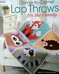 Crochet Corner-To-Corner Lap Throws For The Family
