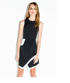 Contrast Asymmetric Hem Dress by Cue Casual Dresses, Dresses For Work, Buy Dresses Online, Outfit Goals, Everyday Outfits, Evening Dresses, Style Me, Contrast, That Look