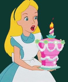 Alice In Wonderland Birthday Cake GIF - AliceInWonderland BirthdayCake BlowingOutCandles - Discover & Share GIFs Cute Disney, Disney Art, Disney Pixar, Walt Disney, Disney Characters, Disney Magic, Disney Movies, Alice In Wonderland 1951, Alice In Wonderland Birthday