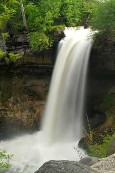 minnehaha falls - Harry took me here on one of our first dates and I almost fell over the falls, he saved me by grabbing my belt.  He has been saving ever since.