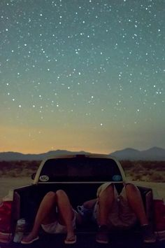Take a truck and drive til you get too low on gas, and are in the middle of nowhere with your best friend and sleep in the bed of the truck on the grass and star gaze.