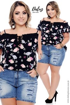 Blusa Plus Size Karmona - Coleção Primavera Verão Plus Size - daluzplussize.com.br