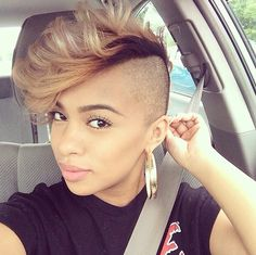 119 Best Mohawk Hairstyles For Women Images In 2019