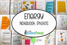 Energy Interactive Science Notebook Photos (5.6A explore the uses of energy, including mechanical, light, thermal, electrical, and sound energy)