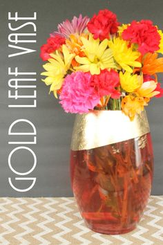 Easy DIY Fall Decor!!  Gold Lead Vase | Old Time Pottery's Do More For Less