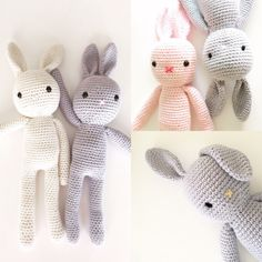 Crochet Easter Bunny Plush Toy Cotton Bunny by LittlePinkCanary