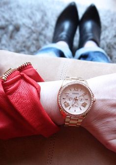#FOSSILSTYLE ROUNDUP - @_nohalida_ wearing the #Fossil CECILE Watch