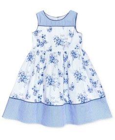 little girl dresses Laura Ashley Stripe Floral Cotton Dress, Toddler amp; Little Girls - Blue African Dresses For Kids, Little Girl Outfits, Little Girl Fashion, Little Dresses, Little Girl Dresses, Kids Outfits, Girls Dresses, Baby Dresses, Fashion Kids