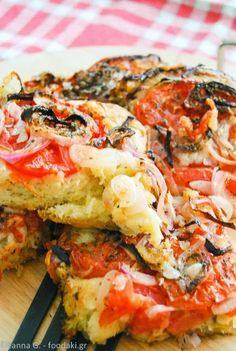 Λαδενια Κιμωλου (παραδοσιακη Ελληνικη πιτσα)