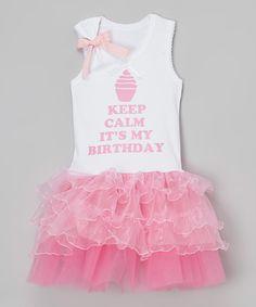 Pink 'Keep Calm' Tutu Dress - Infant, Toddler & Girls by Beary Basics #zulily #zulilyfinds