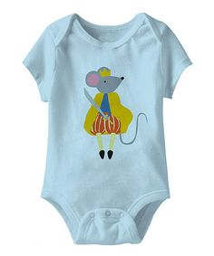 Take a look at this Light Blue Mouse King Bodysuit - Infant by The Nutcracker: Apparel & Accessories on @zulily today!