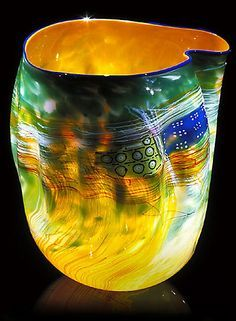 Soft cylinder, glass piece by Dale Chihuly