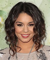 Vanessa Hudgens Hairstyle: Casual Medium Curly Hairstyle