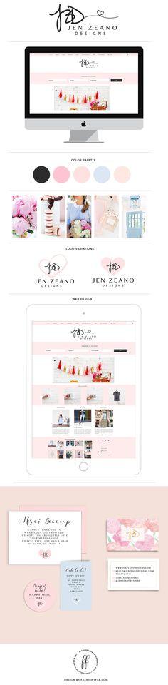 Recent Work: Jen Zeano Designs Branding and Web Design